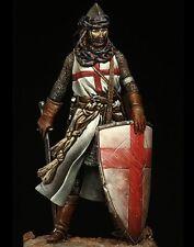 Pegaso Models Crusader Templar Knight 75mm Model Unpainted Metal Kit
