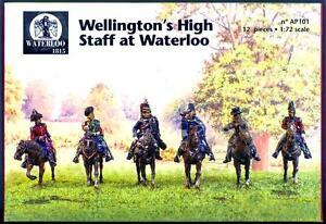 Waterloo-1815-Miniatures-1-72-WELLINGTON-039-S-STAFF-AT-WATERLOO-Metal-Figure-Set