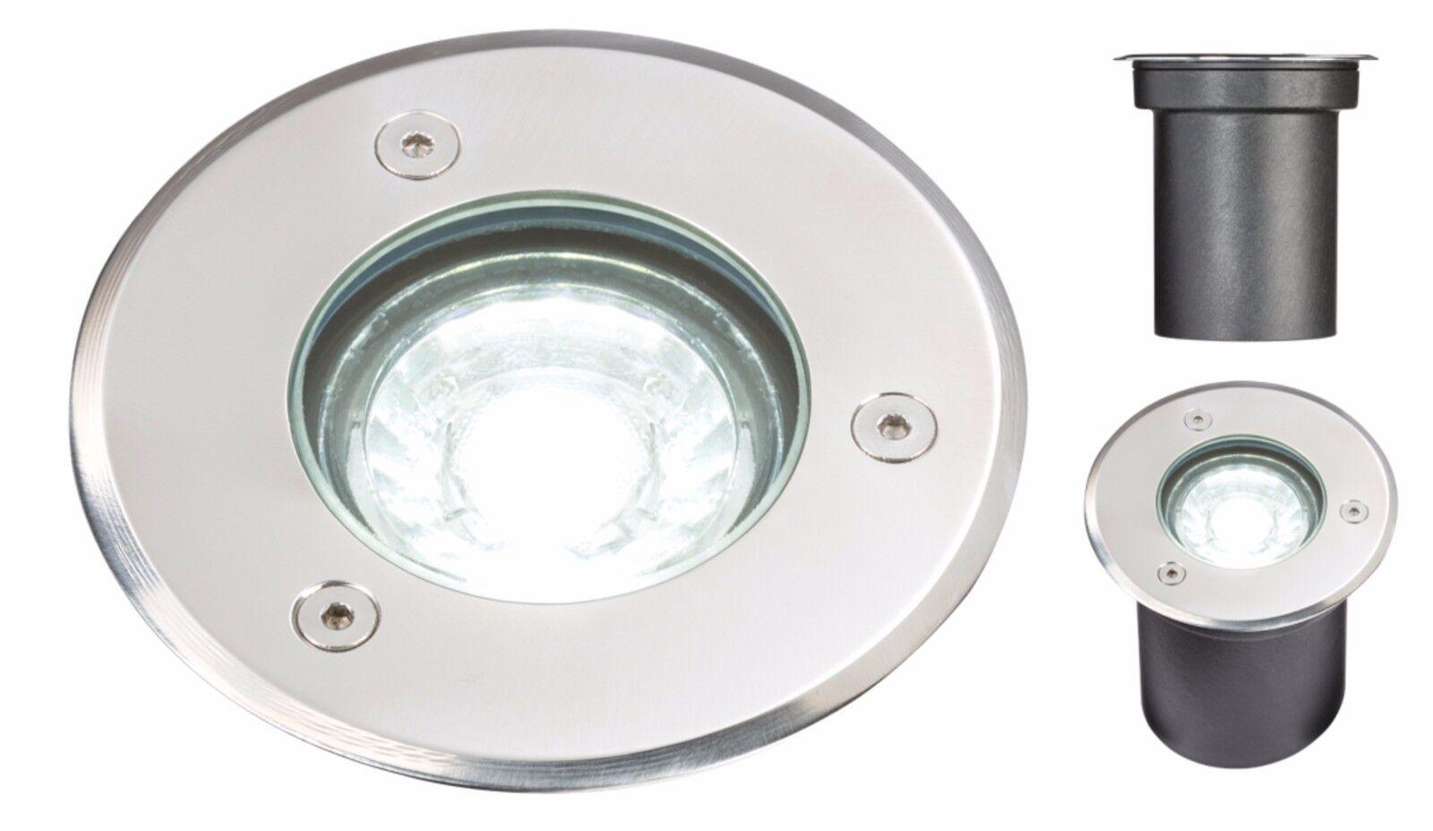 Knightsbridge 230V 3W IP65 Led Pavimento   Luce Terrazza Lampada 3000K Bianco