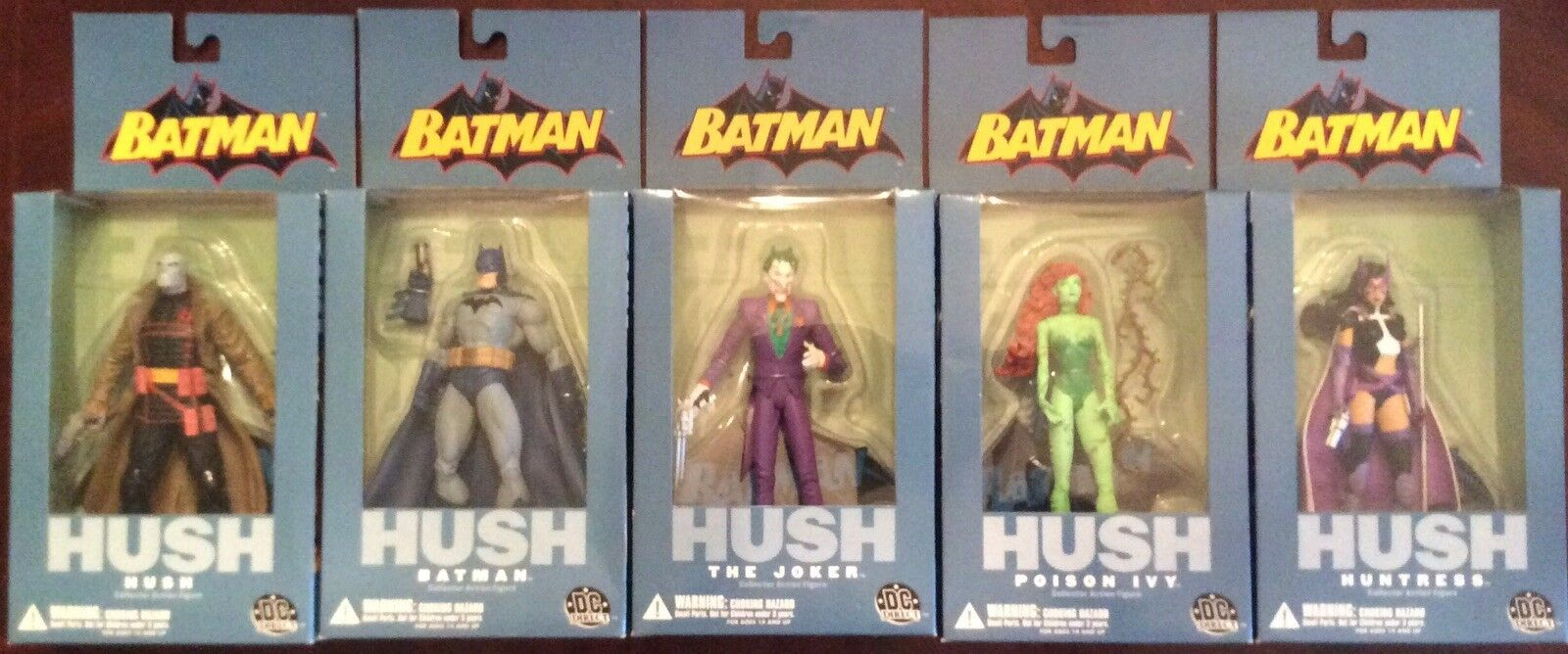 DC Comics Batman Jim Lee Hush Series 1 Action Figure Set of 5.