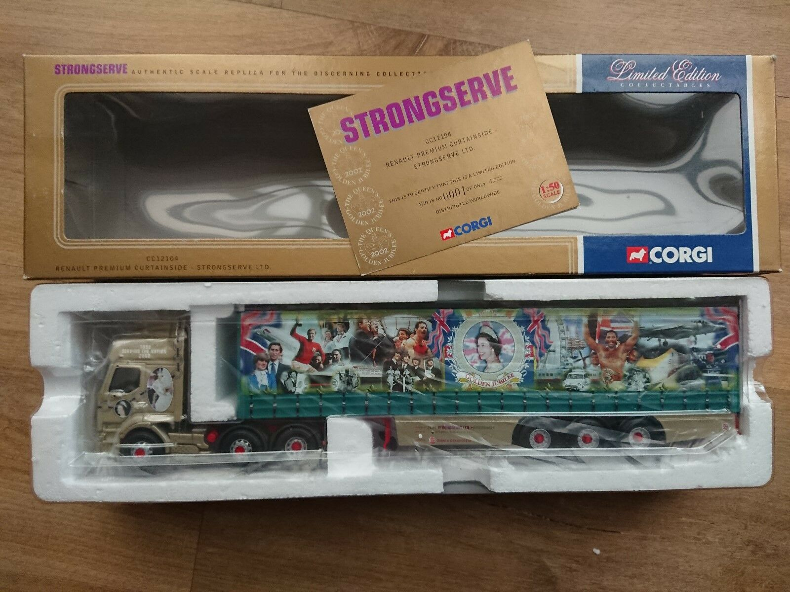 Corgi CC12104 Renault Premium Curtainside STRONGSERVE Ltd Ed. No. 0001 of 4000