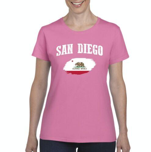San Diego California Women Shirts T-Shirt Tee