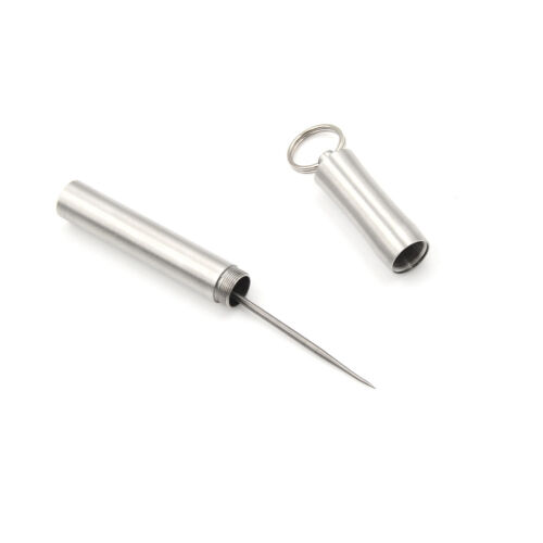 Pocket waterproof titanium alloy toothpick with holder outdoor traveling tool MO