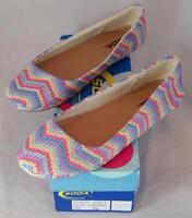 Soda Afar - S Women's Lilac Multi Zig Zag Slip On Ballet Flats Shoes