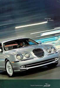2001 Jaguar S-Type 3.0L AJ-V6 4.0L AJ-V8 48-Page Sales Brochure w/Paint Chips