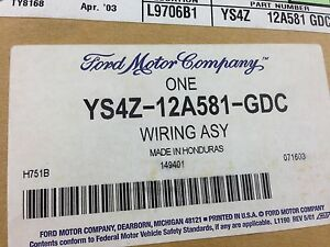 s l300 nos oem 2001 ford focus wiring harness assembly ys4z 12a581 2001 ford focus wiring harness at readyjetset.co