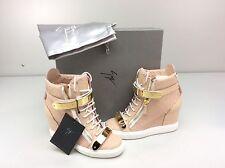 Giuseppe Zanotti RW5007 Golia Print Rosa Wedge Sneakers Size EU 36