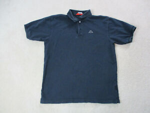 VINTAGE-Kappa-Polo-Shirt-Adult-Large-Navy-Blue-Soccer-Futbol-Rugby-Mens-90s