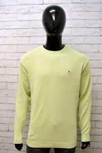 Maglione-GANT-Taglia-XL-Pullover-Cardigan-Felpa-Sweater-Uomo-Cotone-Giallo