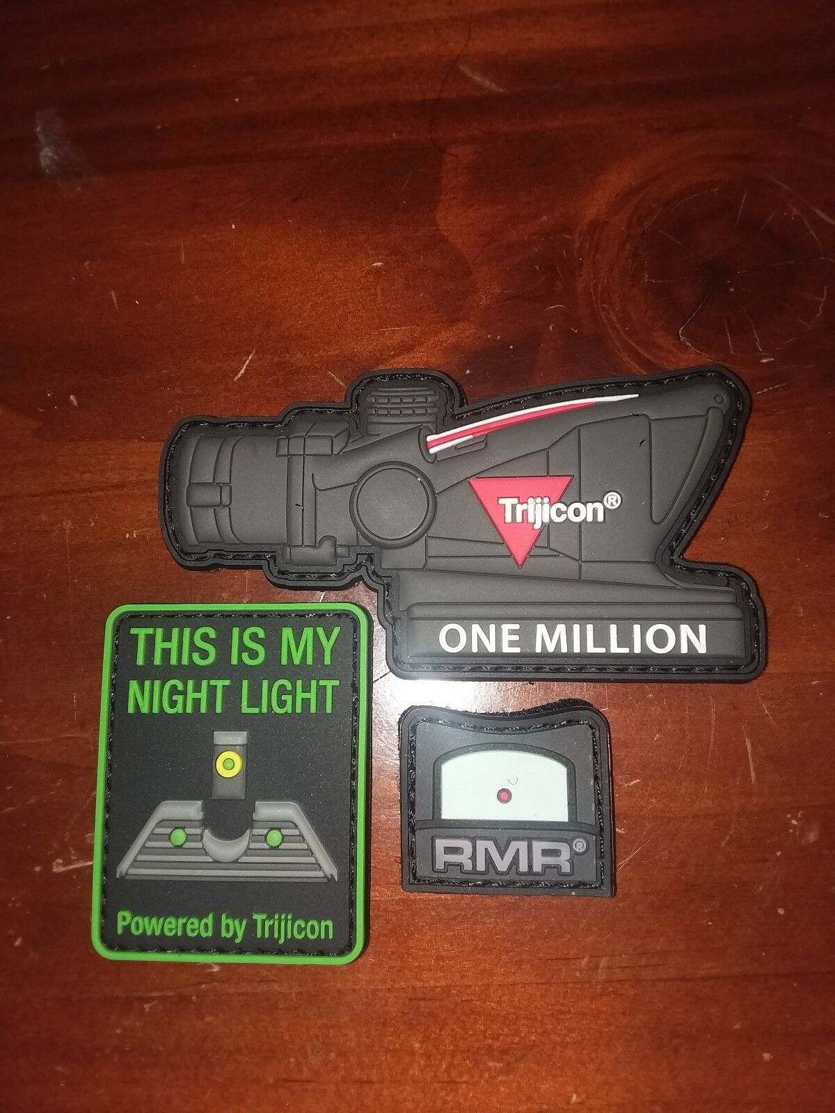 SHOT SHOW 2019 TRIJICON Patches ACOG + NIGHT LIGHT + RMR Limited Edition
