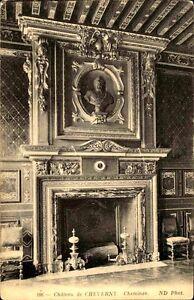 CPA-Frankreich-um-1910-AK-Chateau-CHEVERNY-Cheminee-Kamin-Zimmer-France