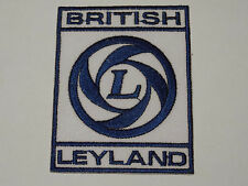 MOTORSPORTS MOTOR RACING SEW ON / IRON ON PATCH:- BRITISH LEYLAND BLUE LETTER B