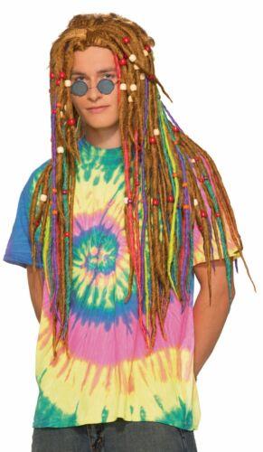 Forum Novelties Hippie Rainbow Dreadlocks Wig Halloween Costume Accessory 74507