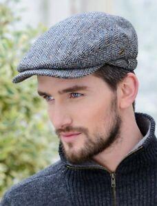 e29f53a24a7 Quiet Man Kerry Irish Hat Flat cap Aran Grey Tweed Cap Mucros ...