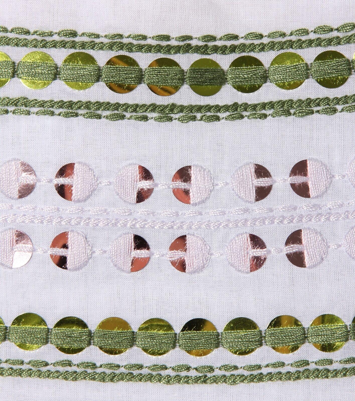 Nuova Nuova Nuova con Etichetta Tory Burch Donna Madeline Ricamato Tunica Misura verde a0cdf0