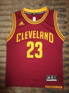 meet 7bf9d cee99 Details about LeBron James #23 Cleveland Cavaliers NBA Finals adidas Jersey  Youth S 6-8