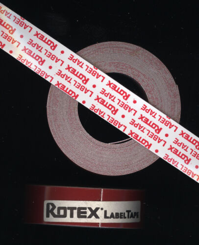 1x ROTEX 12,7mm x 4,0M PRÄGEBAND dunkel ROT matt Etiketten Embossing label tape