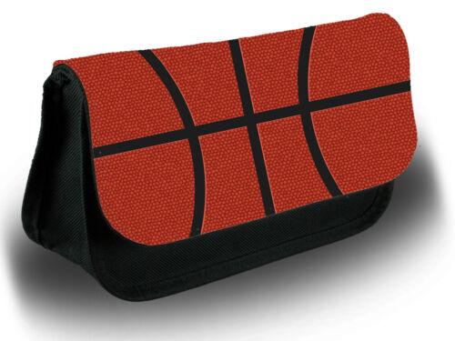 Printed Basketball Pattern Pencil Case Bag Stationery School Ball Balls D739