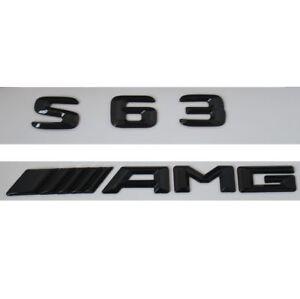 S63 Amg Emblem Glanzend Schwarz Zeichen Aufkleber Schriftzug
