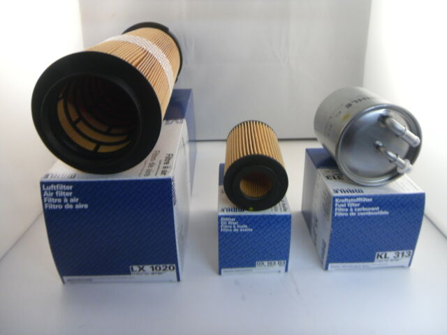 Mercedes C Class C200 CDI Service Kit Oil Air Fuel Filter 03 to 08 OPT2 MAHLE