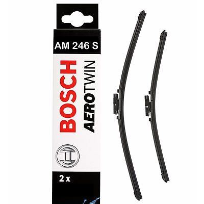 Bosch Front Windscreen Wiper Blades Aerotwin 650mm+380mm AM246S