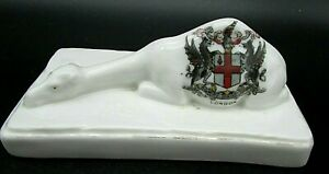 Antique-Crested-China-Sleeping-Camel-London-crest-no-makers-mark-good-condition