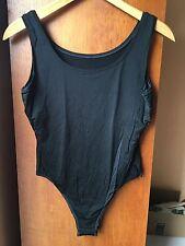 Fogal - Sporty yet Elegant Nylon/ Lycra Bodysuit, Black, Size Medium, Vintage