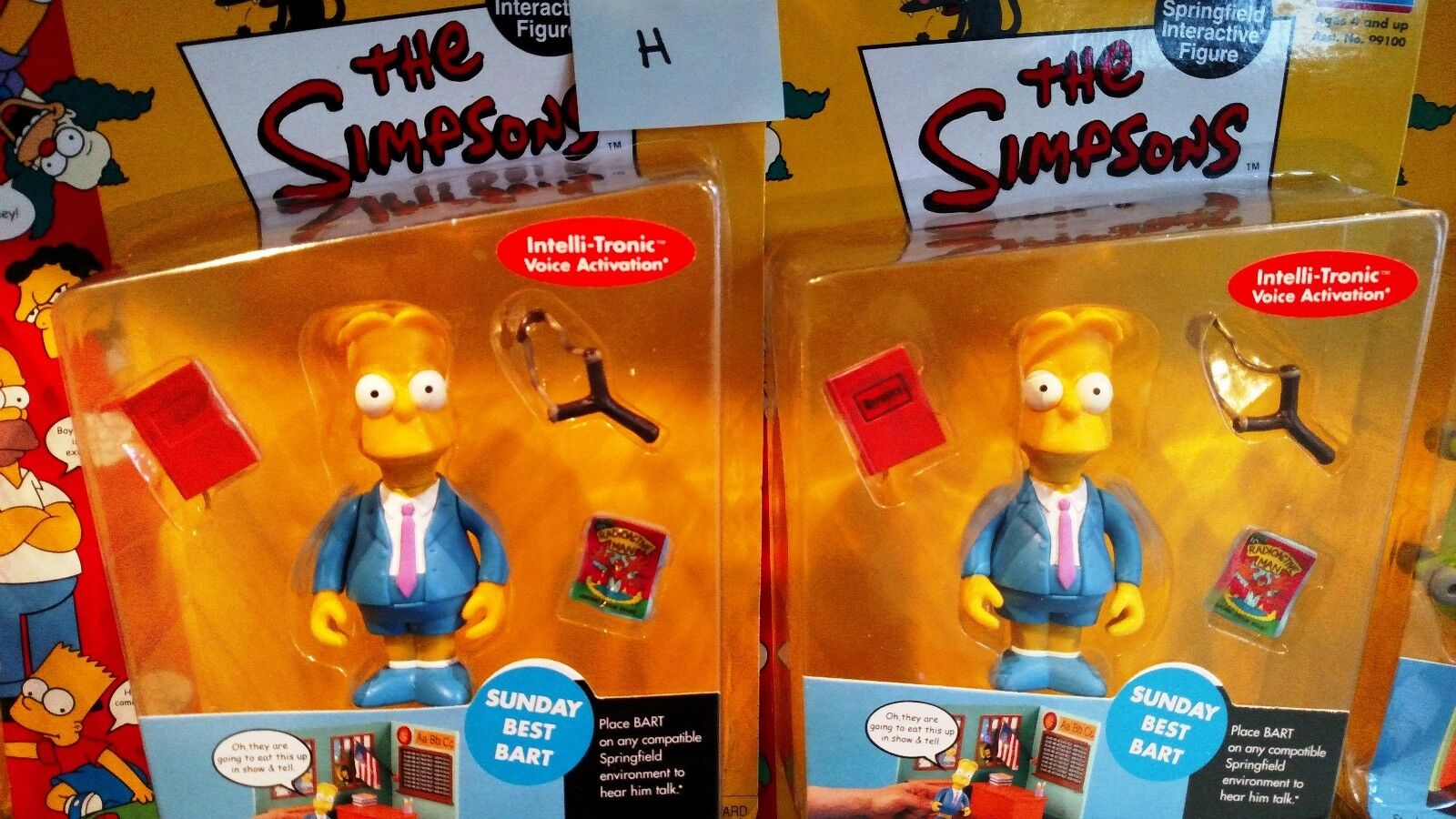 H (4)Simpsons värld of Springfield Figures Darödevil Bkonst variant Sunday Bkonst
