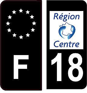 18 4 Autocollants 2 paires Stickers style Auto Plaque Black Edition noir F