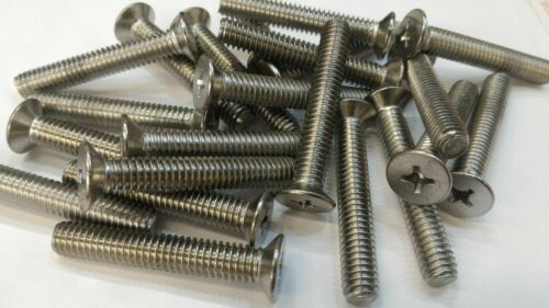 18-8 Stainless Steel Machine Screw Bolt Flat Head Phillips 5//16-18 x 2/""