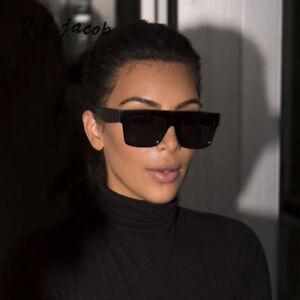 69f3c41557b2 Kardashian Sunglasses Kim Black Fashion Top S Women Square Aviator ...