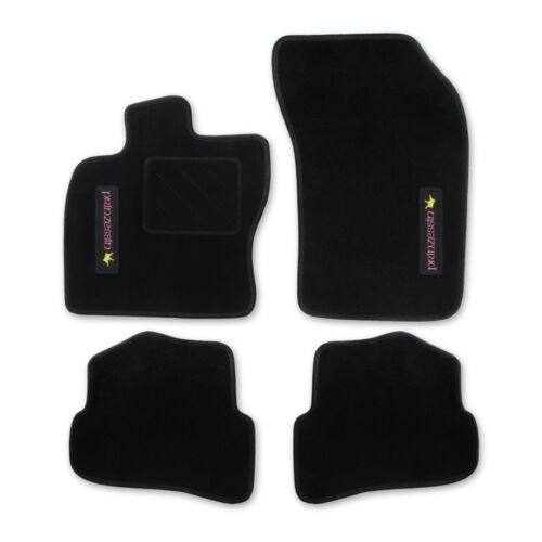 1//09 RAU Fußmatten schwarz PRINZESSIN Hyundai i20 5türig ab Bj