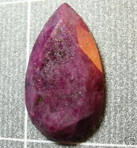 15-Ct-RUBY-Gem-Facet-TEARDROP-Mottled-African-Gemstone