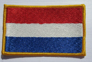 Niederlande-Netherlands-Flagge-Aufnaeher-Patch-5-x-8-cm-NEU-A54v