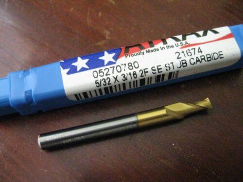 """Atrax End Mill 5//32/"""" x 3//16/"""" Taper x 9//16/"""" LOC  2 Flute Carbide TiN USA"""