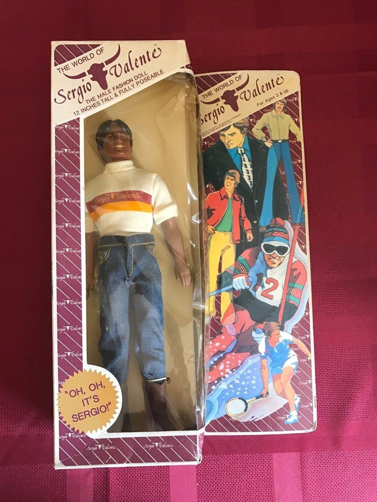 Sergio Valente RARE 12  Male Fashion Doll NEW in Box NOS Action Figure 1982