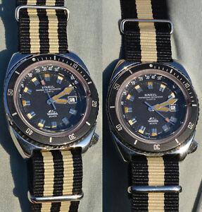 Watch Breil Manta Professional Depthometer Diver Sub 200mt. NOS Years '70 '80