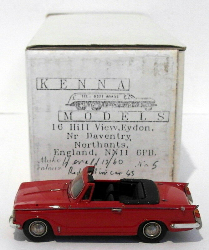 Kenna modelle, maßstab 1  43 km '- triumph herald 13   60 cabrio offen - rot