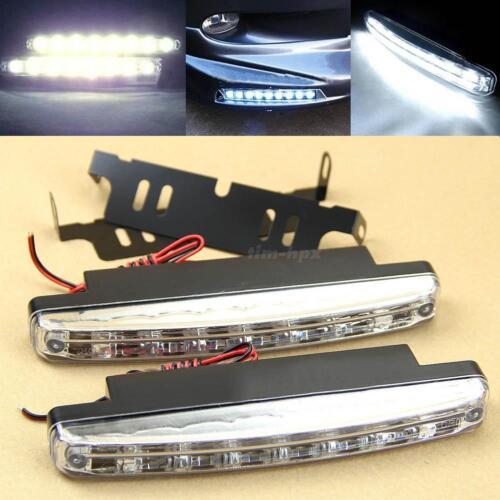 2Pcs 8 LED Vehicle Car Daytime Running Light DRL Daylight Fog Lamp Kit Top
