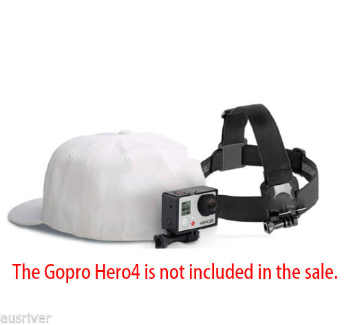 Head Strap Mount Belt for GoPro Hero4//5//6 Series Xiaomi Yi Action Sport Camera
