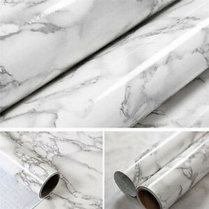 Details about Granite Marble Effect Wall Self Adhesive Peel Stick Rolling  Paper Decor