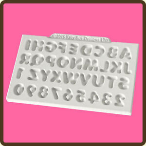Katy Sue Designs MINI DOMED ALPHABET Cake Crafting Mould CE0030 11 mm x 11mm