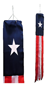 United States of America USA Texas Flag Super 5' Windsock