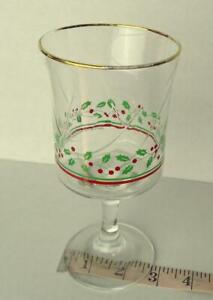 Arbys-Arby-039-s-Christmas-Collection-1985-Glass-Holiday-Stemware-Vintage