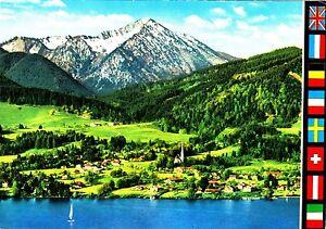 Bad-Wiessee-am-Tegernsee-mit-Kampen-Ansichtskarte-ungelaufen