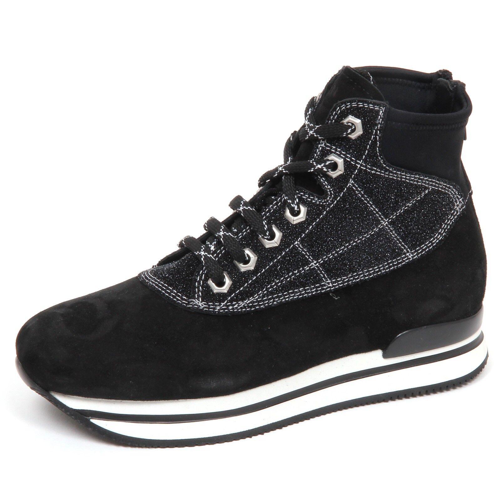 E4790 Sneaker women black Hogan h222 Duck Montain shoes Boat shoes Woman