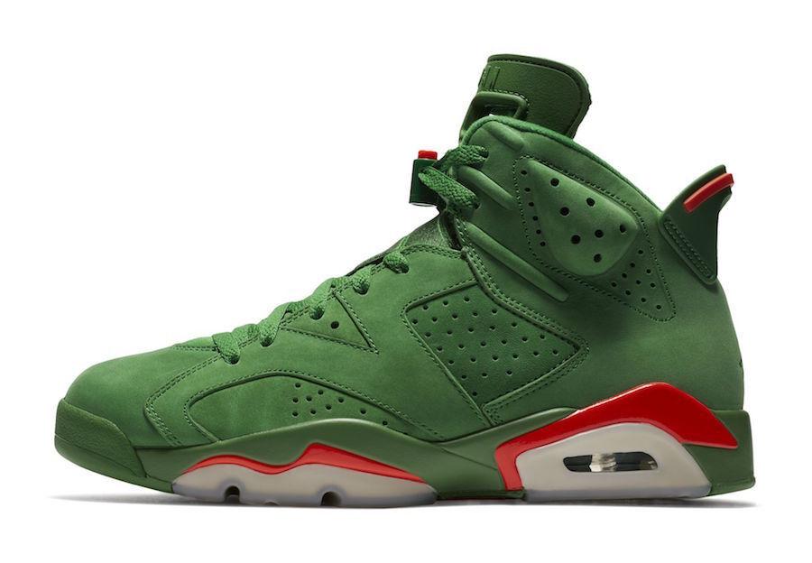 2017 Nike Air Jordan 6 VI Retro Gatorade Green Suede Size 10. aj5986-335