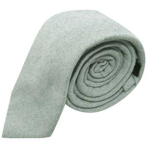 Necktie Mint Green Herringbone Tie