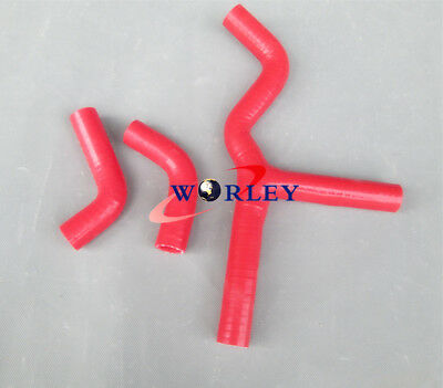 Red Silicone radiator Hose kit for KTM 450 525 SX EXC MXC FMX 03-06 2004 2005