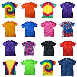 4998fcd8e Childrens Tie Dye T Shirt Top Tee Tye Die Music Festival Hipster ...